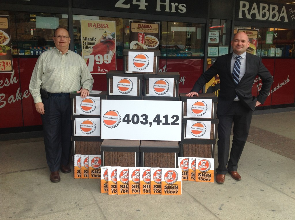 ontario convenience stores beer petition