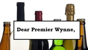 OCSA Dear Premier Wynne - beer