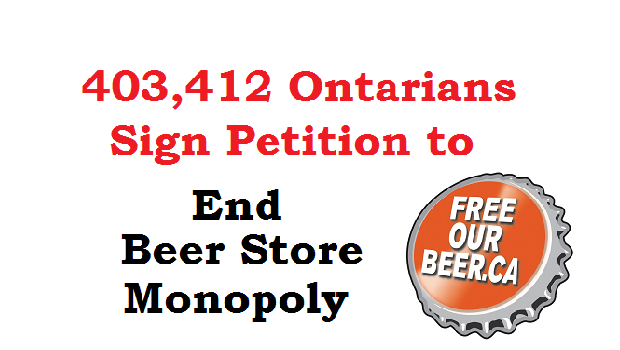 end beer store monopoly -ocsa beer petition