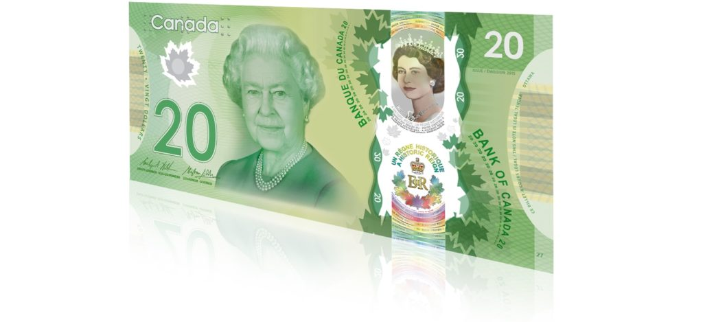 Commemerative 20 bank note - Canada