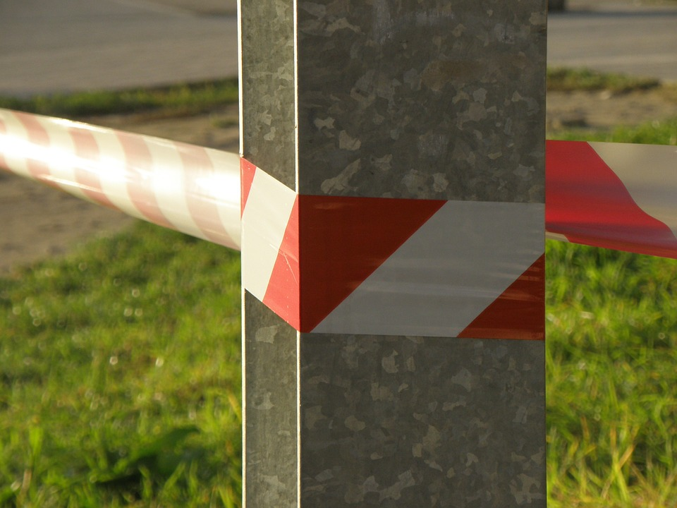 Red caution tape