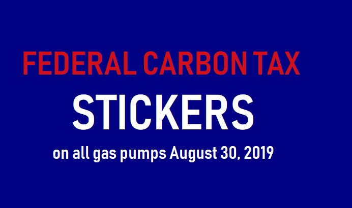 ontario carbon tax stickers for gas stations