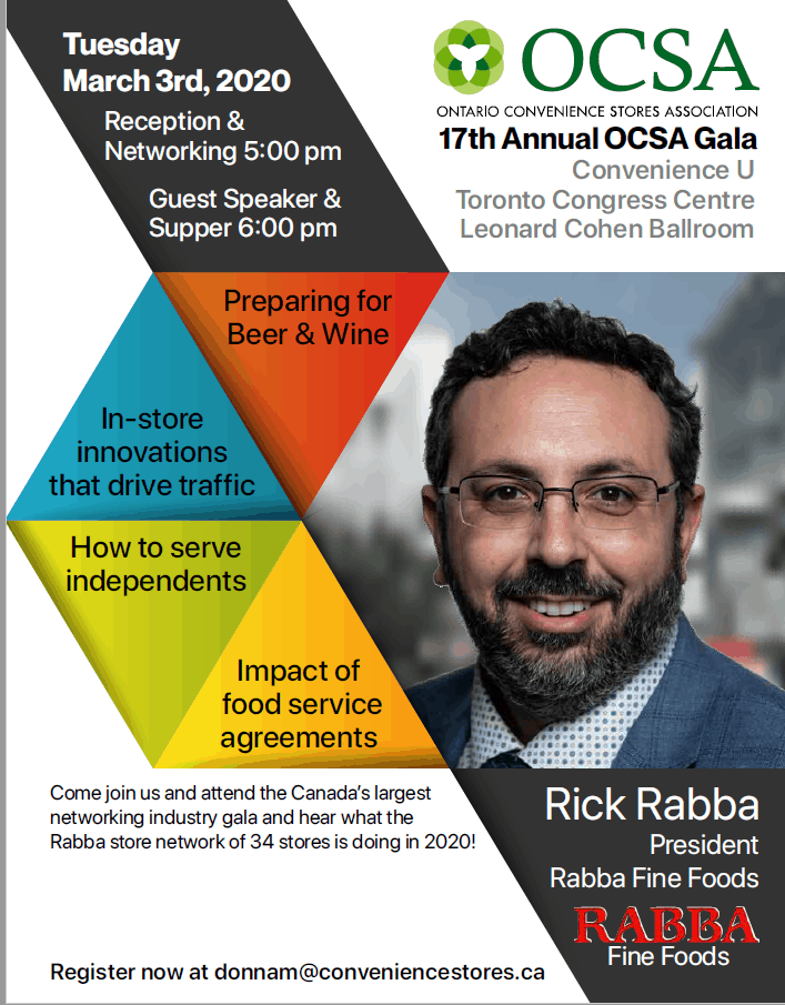 2020 Race is On OCSA Gala Supper & Networking Event Rick Rabba