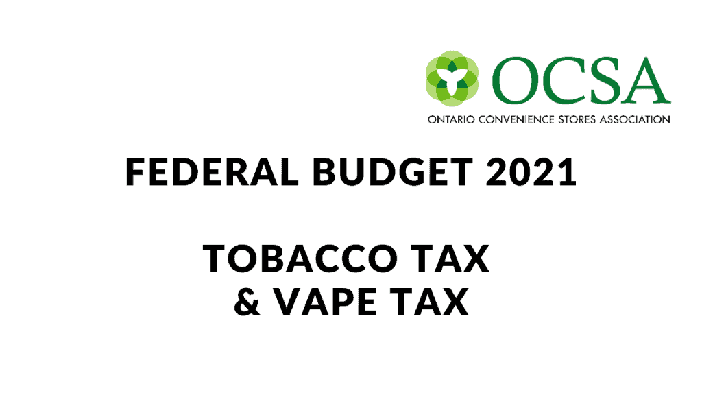 tobacco and vape tax