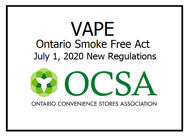 Ontario Convenience Stores Association - Smoke free regulations